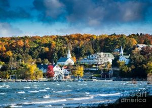 Fall In Ephraim, Wisconsin Photograph by David Parker