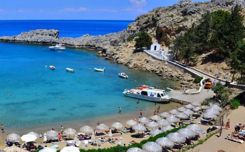 St. Paul's Bay - Rent a car Rhodes Greece Port & Airport