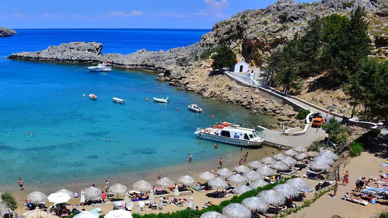 St. Paul's Bay - Rent a car Rhodes Greece Port & Airport